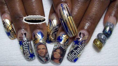 Obama nail art