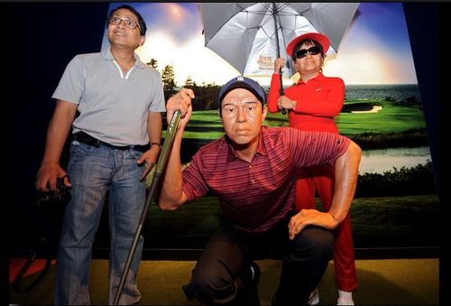 Tiger Woods wax figure